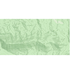 Abstract topographic map in green colors vector