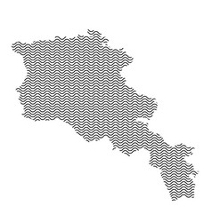 armenia map country abstract silhouette of wavy vector image