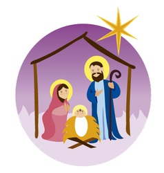 Baby-Jesus-in-a-manger 11 vector image