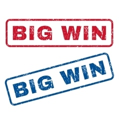Big Win Rubber Stamps vector image