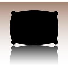 Black Pillow icon vector