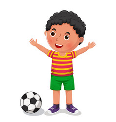 boy with a ball vector image