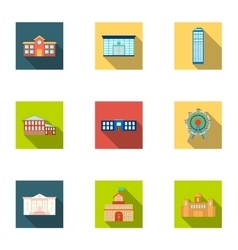 Building set icons in flat style Big collection vector