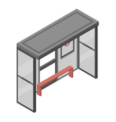 bus stop icon isometric style vector image