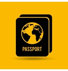 Button passport identity traveler design graphic vector