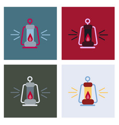 camping lantern icon camp lamp lamp icon vector image