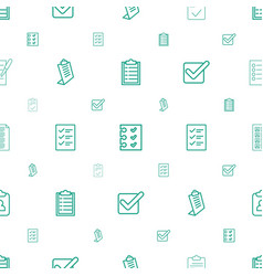 Checkbox icons pattern seamless white background vector