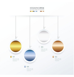 Circle hanging concept gold color style vector