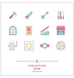CONSTRUCTION Line Icons Set vector