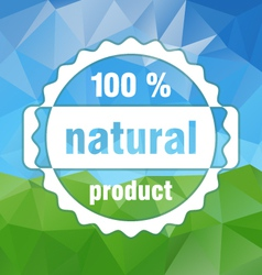 Country natural stamp triangular background vector