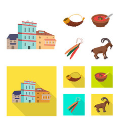 Design culture and sightseeing symbol vector