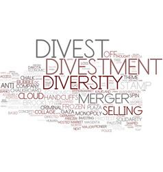 Divest word cloud concept vector