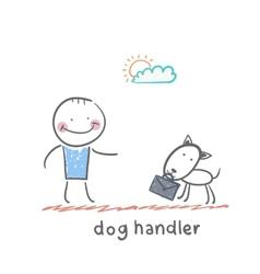 dog handler vector image