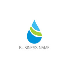 droplet bio water ecology logo vector image
