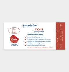 Event Ticket vector