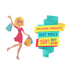 Exclusive products hot price vector
