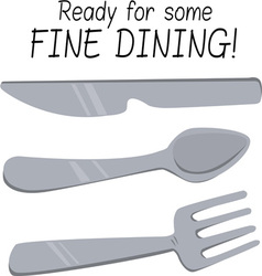 Fine Dining vector