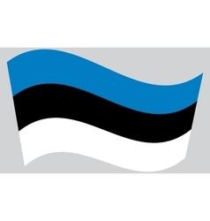 Flag of Estonia waving vector image