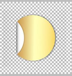 Golden 3d circle sticker vector