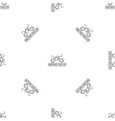 hand made jewellery pattern seamless vector image