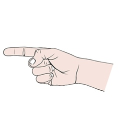Hand pointing vector