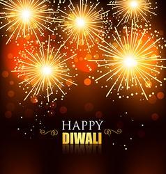 Happy diwali fireworks vector