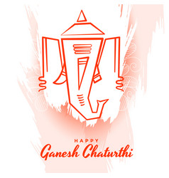 Happy ganesh chaturthi background in abstract vector