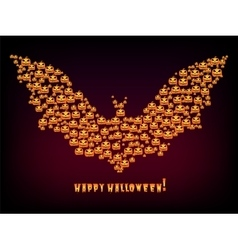 Happy Halloween Holiday background bat out evil vector