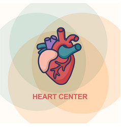 heart care logo healthcare and medical concept vector image