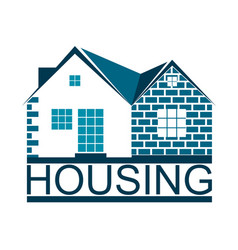 Housing symbol for business vector