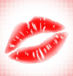 Imprint of lips vector image