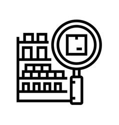 Inventory management line icon vector
