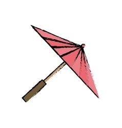 Isolated fashion umbrella vector