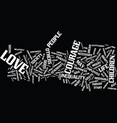 Love and courage text background word cloud vector