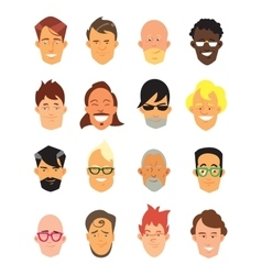 Man avatar icons vector