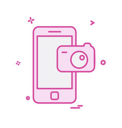 mobile icon design vector image
