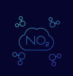 No2 nitrogen dioxide molecule linear vector