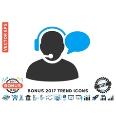 Operator Message Flat Icon With 2017 Bonus Trend vector image