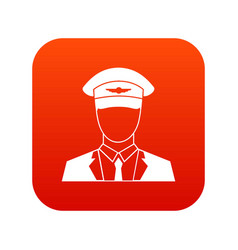pilot icon digital red vector image