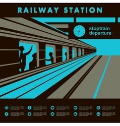 Platform railway station vector