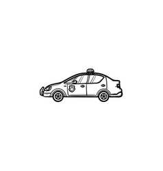 police car hand drawn outline doodle icon vector image