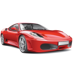 Red Italian Supercar vector image