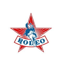 rodeo cowboy bucking bronco vector image