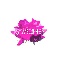 rose awesome print design vector image