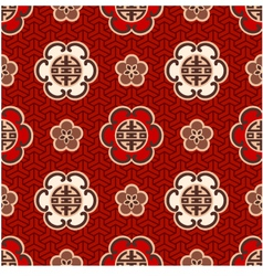 Seamless chinese character traditional pattern vector