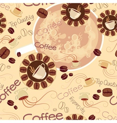 seamless pattern of coffee logos vector image