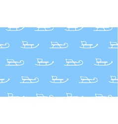 seamless pattern with white sleds vector image