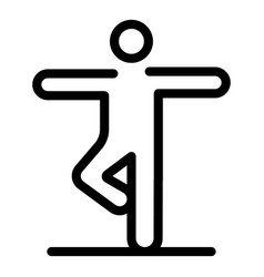 Senior yoga icon outline style vector