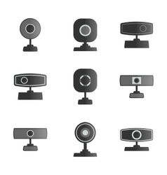 Set icons webcam vector image