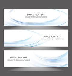 Set of banner templates modern abstract design vector